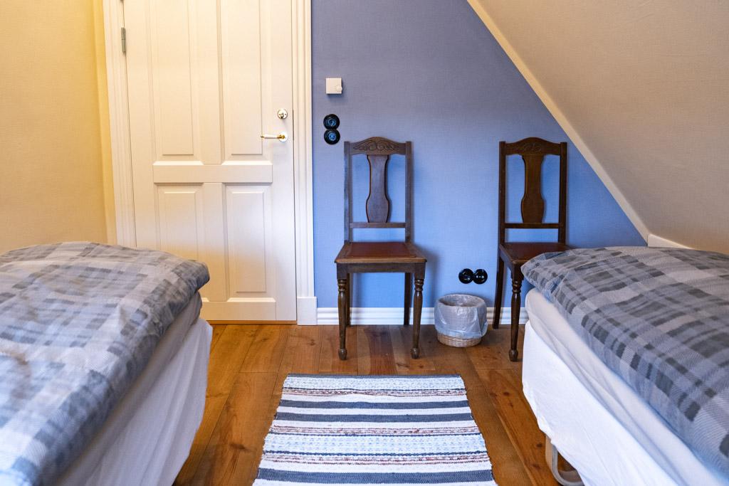 Blue Room wall