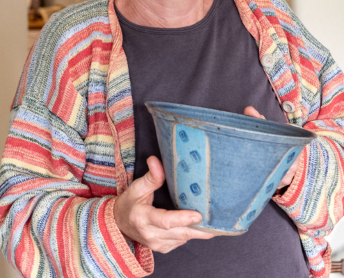 Maren with her Pottery